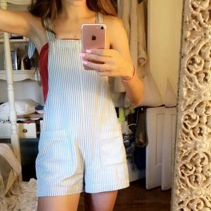 aerie Shorts - Aerie striped short tie overalls